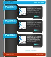 FOLIO : free PSD blog template by paulrostorp