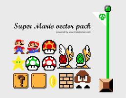 Super Mario Vector Pack by mat3jko