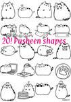 Pusheen shapes set 1