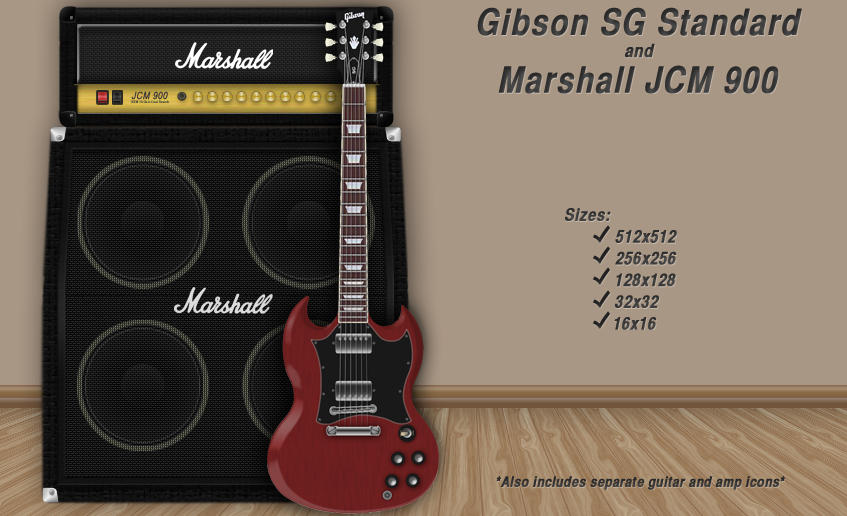 gibson sg wallpaper. Gibson SG and Marshall Icon by