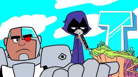 Teen Titans Go! X Gorillaz by CheyennePoint