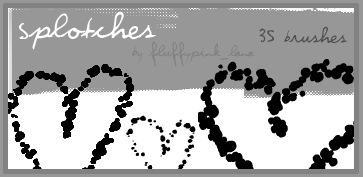 35 Splotches Brushes.