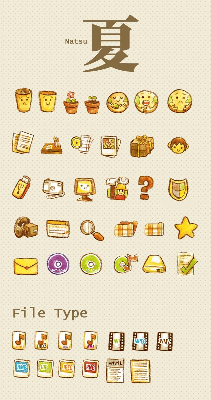 Natsu Icon Set