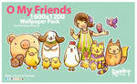 O My Friends Wallpaper Pack