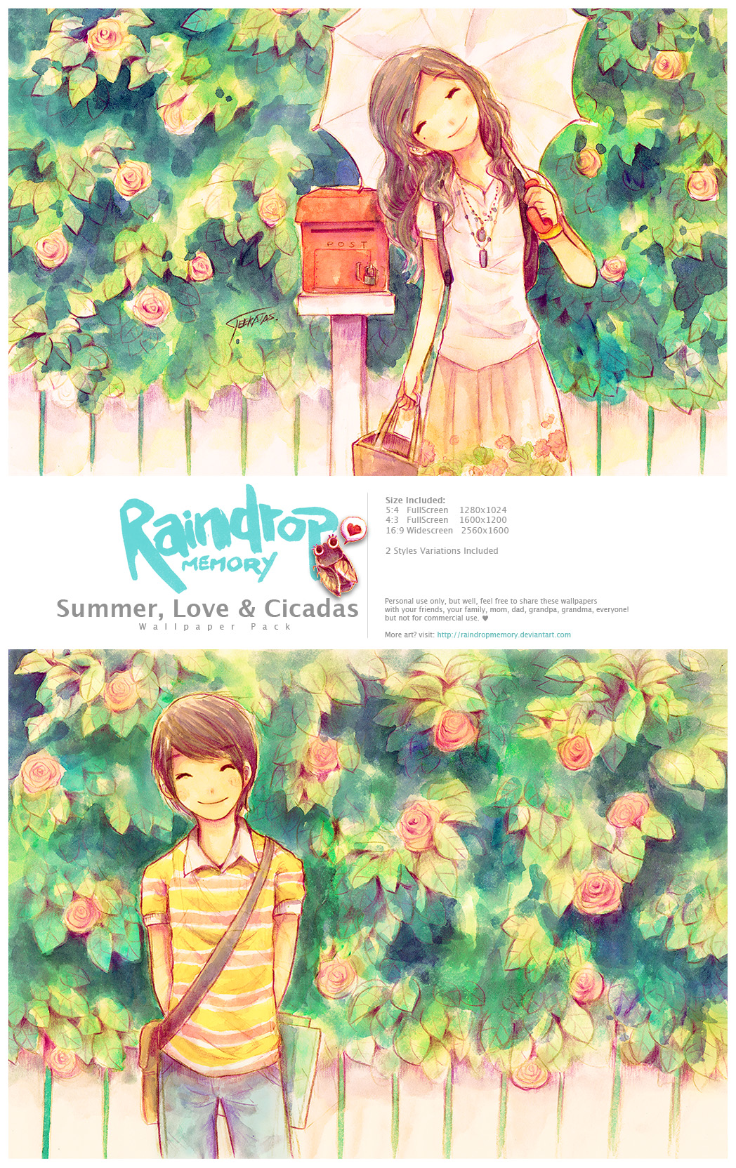 Summer, Love +Cicadas WallPack