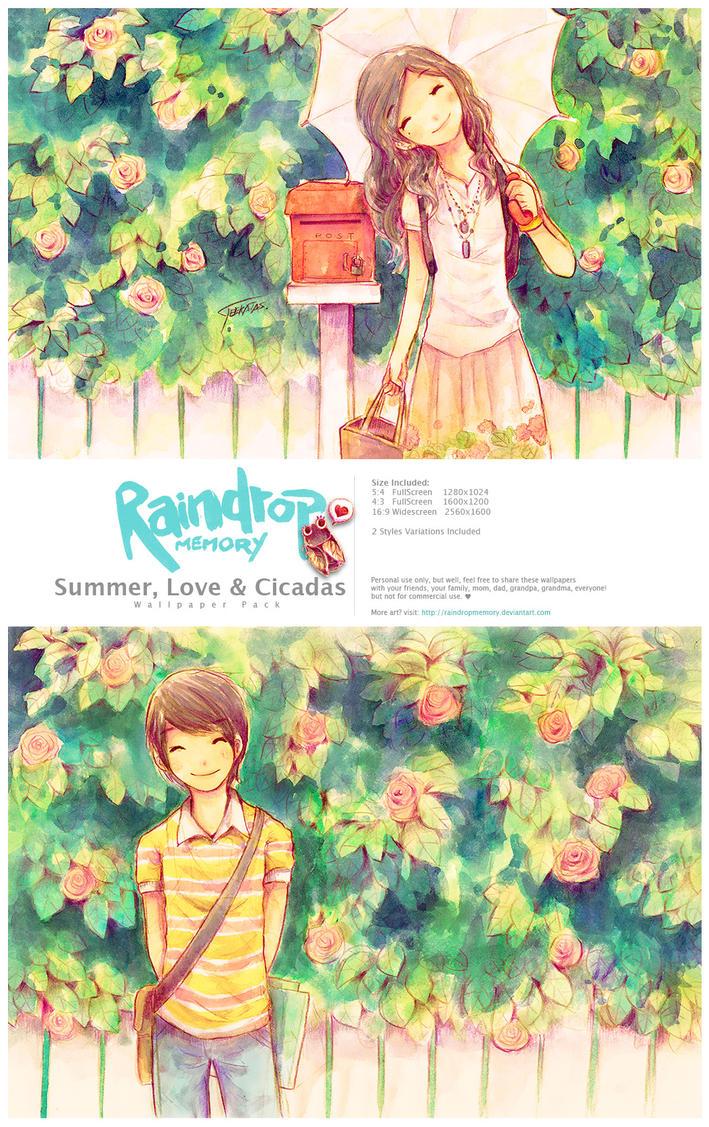 Summer, Love +Cicadas WallPack by Raindropmemory