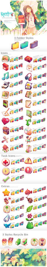 Summer, Love +Cicadas Icon Set