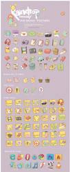 Harmonia Pastelis Icon Set by Raindropmemory