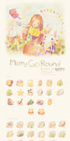 Merry Go Round Icon Set