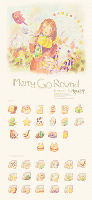 Merry Go Round Icon Set
