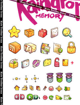 RM Kute Toolbar Icons by Raindropmemory