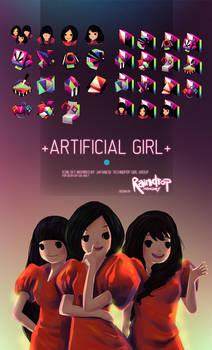 +ARTIFICIAL GIRL+ Icon Set