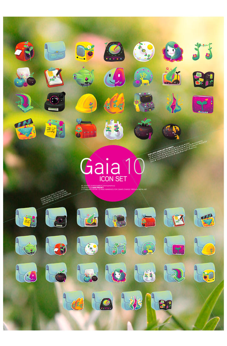 Gaia10 Icon set by Raindropmemory