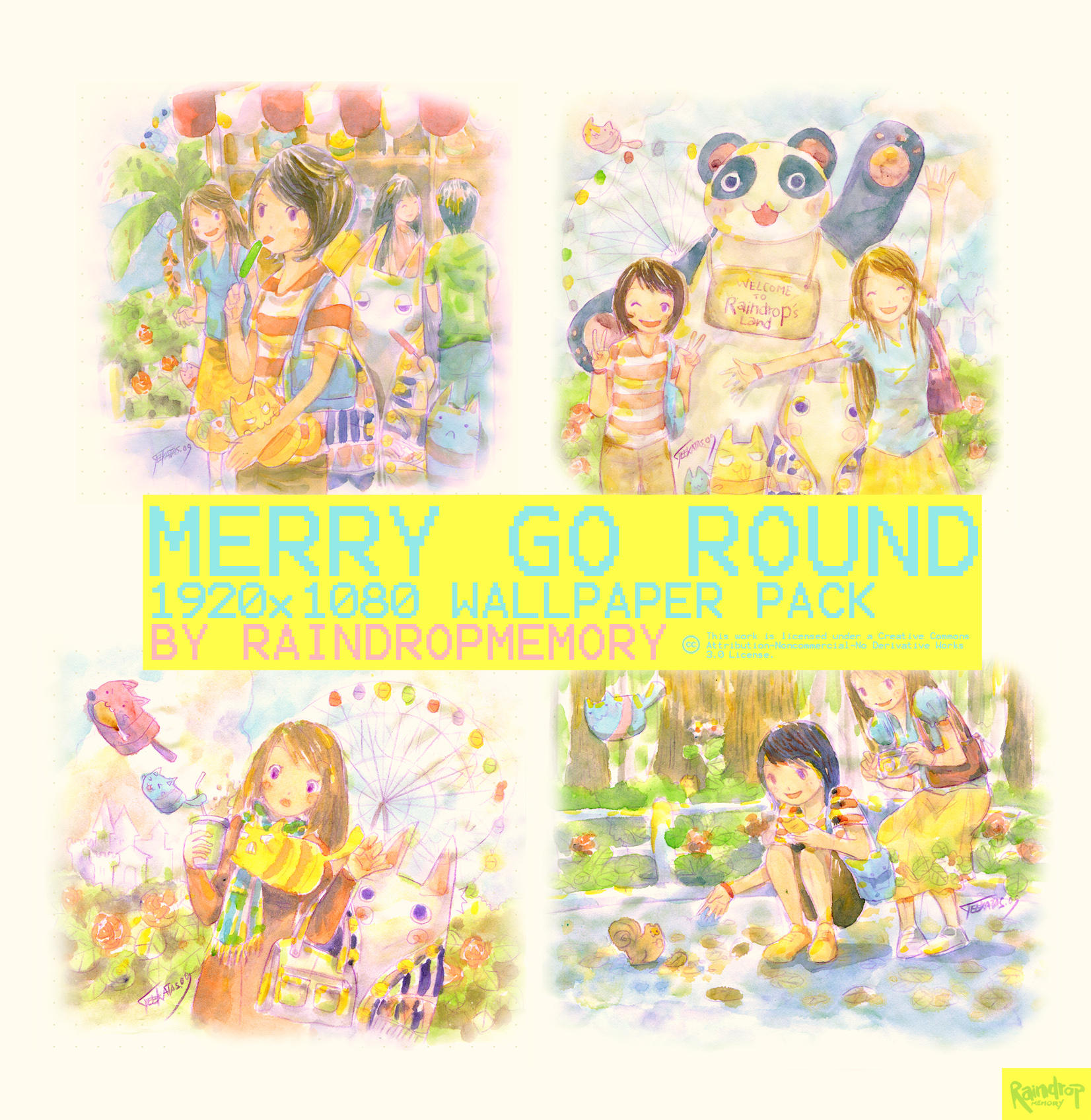 Merry go Round Wallpaper Pack by Raindropmemory