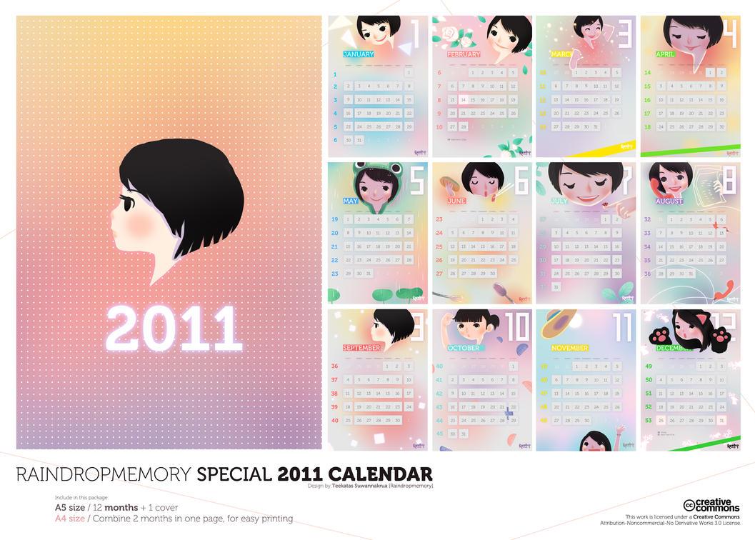 Raindropmemory 2011 Calendar by Raindropmemory