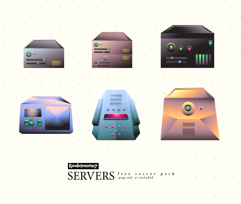SERVERS free vector pack