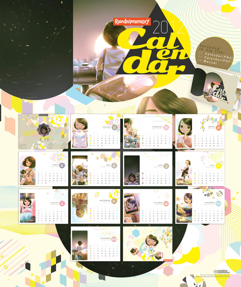 Raindropmemory 2012 Calendar by Raindropmemory