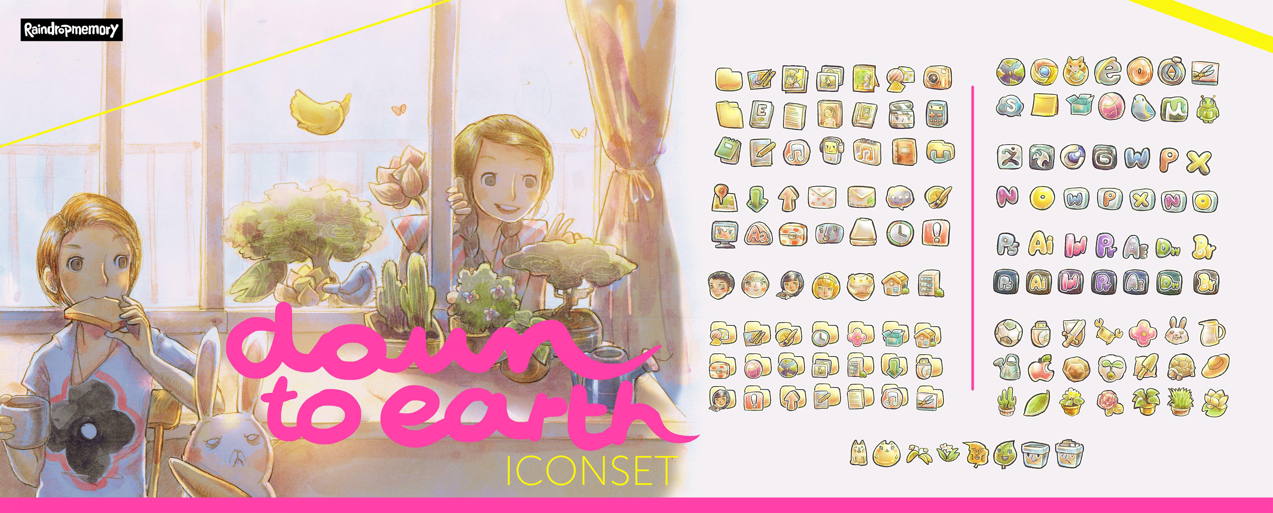 [down to earth] Iconset by Raindropmemory