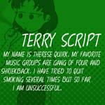 Dubmarine fonts: Terry Script