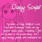 Dubmarine fonts: Daisy Script