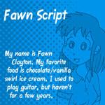 Dubmarine fonts: Fawn Script