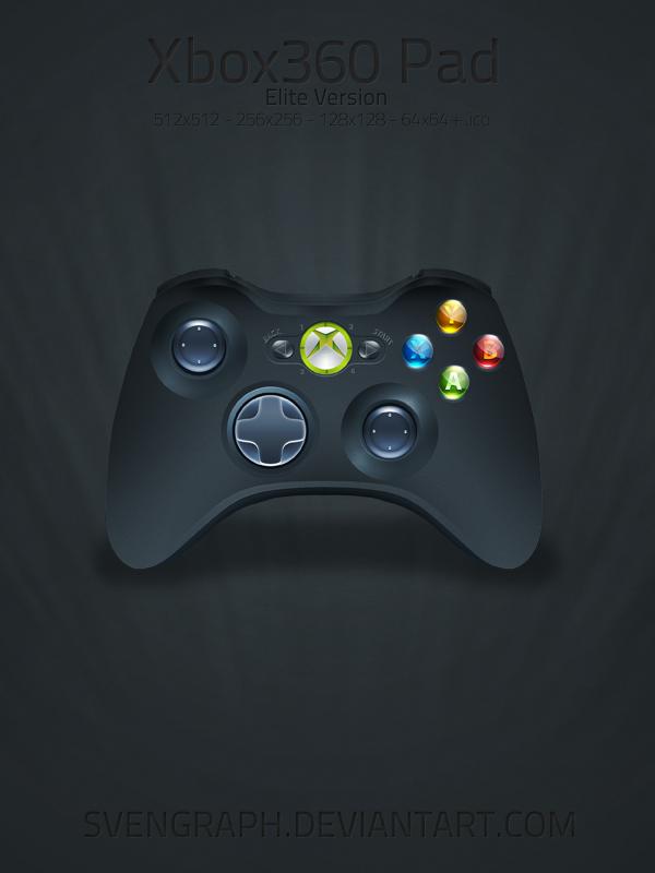 Xbox 360 Elite Joypad Icon by Svengraph