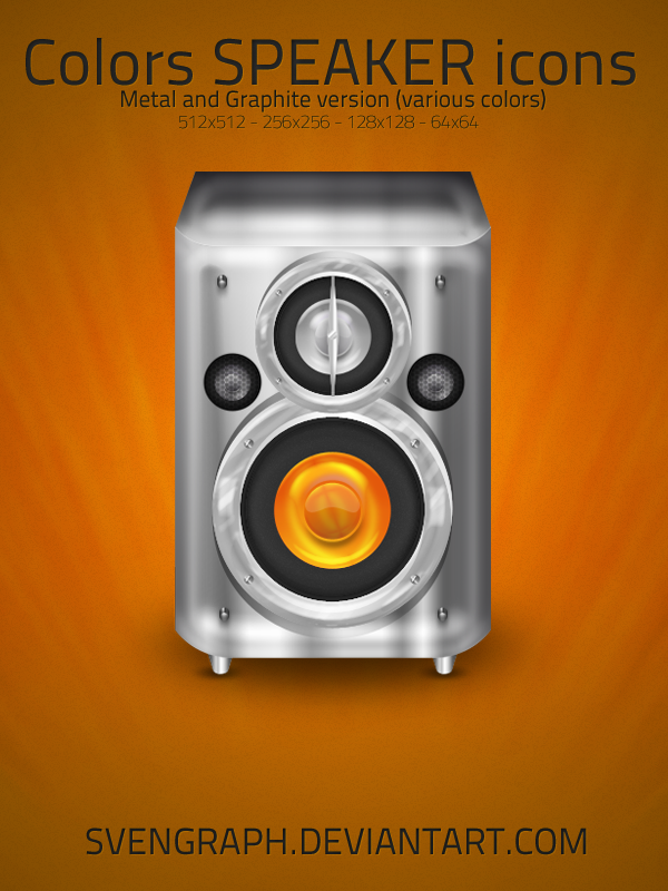 Color Speakers Icon Pack