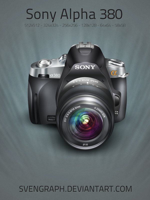 Camera Sony Alpha 380 by Svengraph