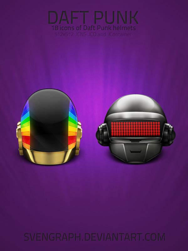 Daft Punk Helmets v2.0 by Svengraph