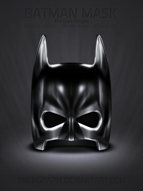 Batman Mask icon set by Svengraph