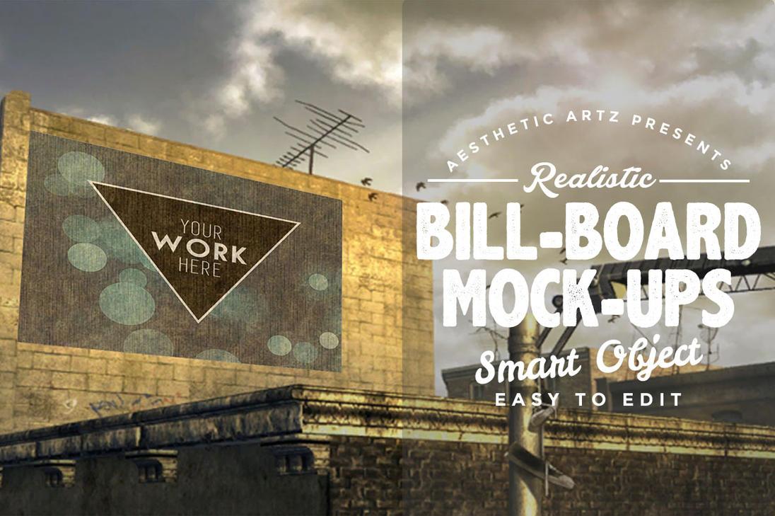 Free Realistic Billboard Mock-ups by AestheticArtz