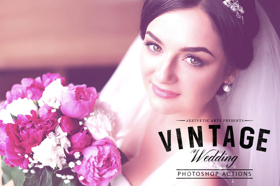 Free Aesthetic Vintage Wedding PS Action by AestheticArtz