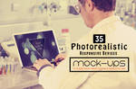 Free PSD Photorealistic Responsive Devices Mock-Up