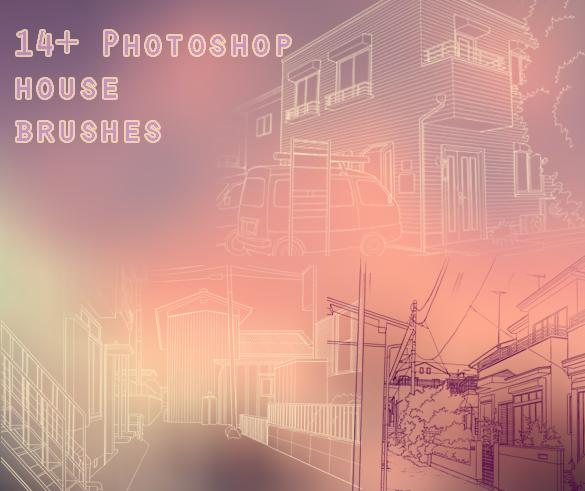 14+ Photoshop House Brushes by waywardgal