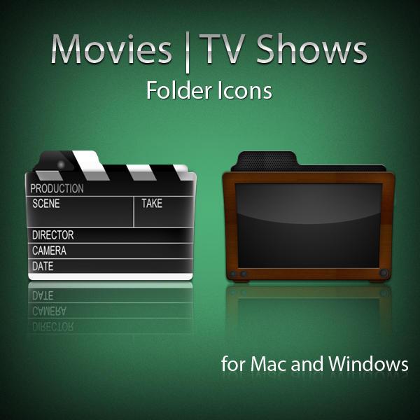 Movies Tv Shows Folder Icons Mac Os X By Umar Irshad