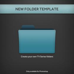 New TV Series Folder PSD Template by paulodelvalle