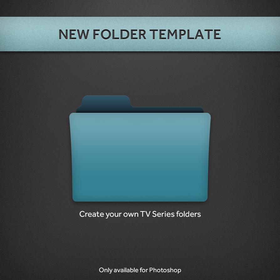 new tv series folder psd template by paulodelvalle on deviantart