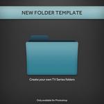 New TV Series Folder PSD Template
