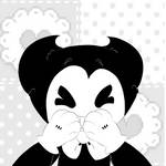 bendy gives you a kissy