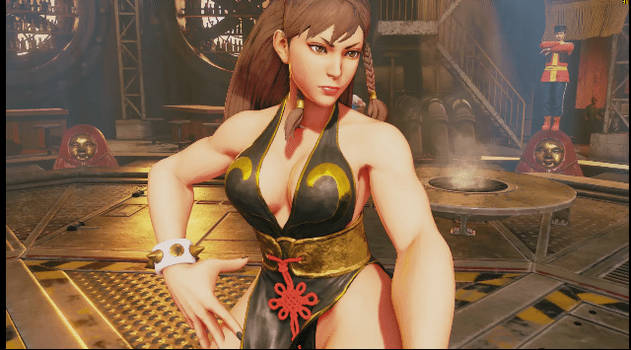 Sexy chun li pose gif 2