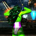 Sexy she hulk flip her hair gif