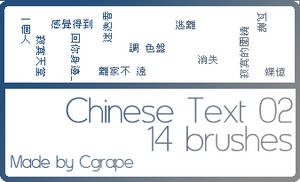 Chinese Text Brushes 02