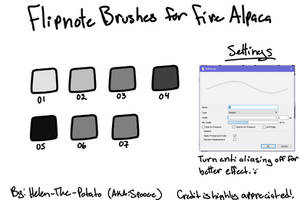 Flipnote Brushes (For Firealpaca)