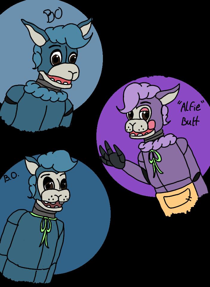 FNaF Oc- FULL Bio Alfonso/Bo the Blue Alpaca by hammyhammy22
