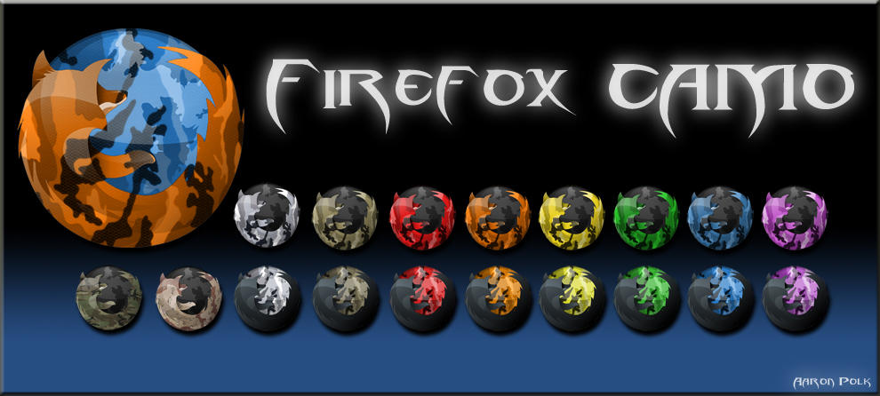 Camo Firefox Icons by kingrabbit