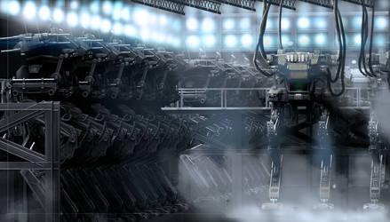 Mech hanger V3 by Acoldwar