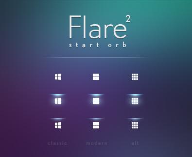 Flare 2: Start Orb for Windows 10 (Classic Shell)
