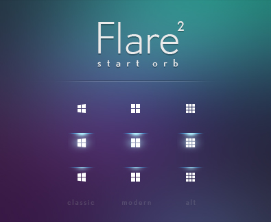 Flare 2: Start Orb for Windows 10 (Classic Shell) by KevinMoses