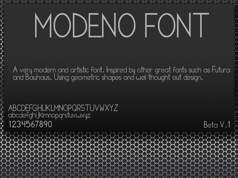 Modeno Font by TonyFbaby