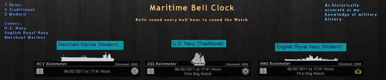 Maritime Bell Clock